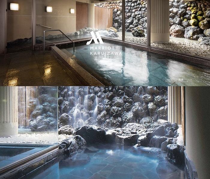 軽井沢マリオットホテル 大浴場 小瀬温泉