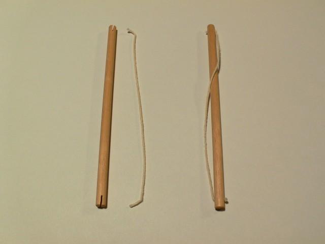 Tensegrity[棒=長さ120mm,直径5mm,溝の深さ5mm][糸=126mm,両端にボンドのダマ]