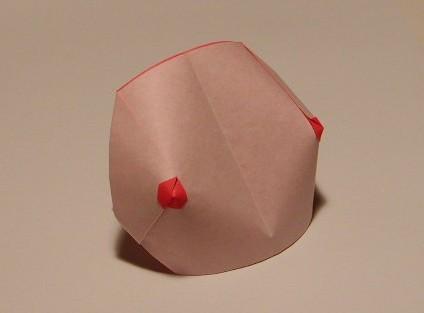 おっぱい折り紙1