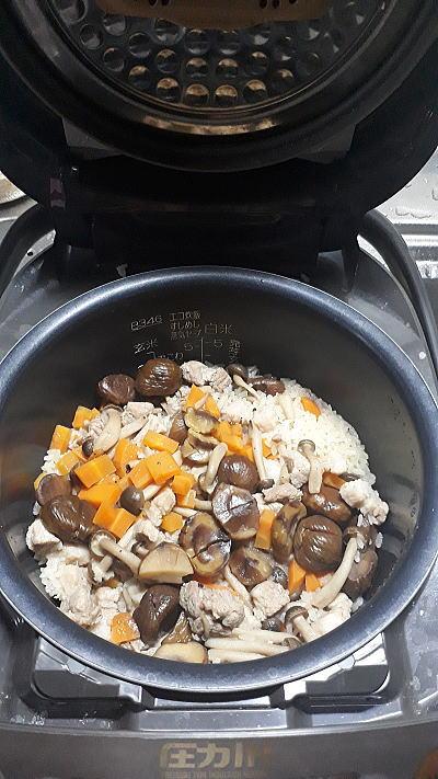 甘栗の炊き込みご飯