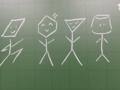 僕らは黒板界の図形団!