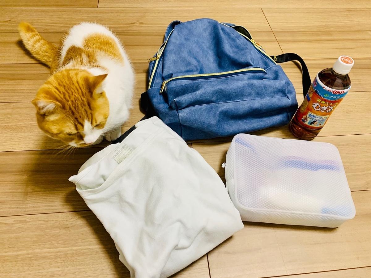 ボランティアに行く日の荷物準備