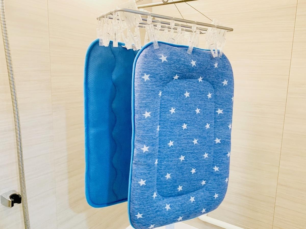 洗濯中の夏用ベッド