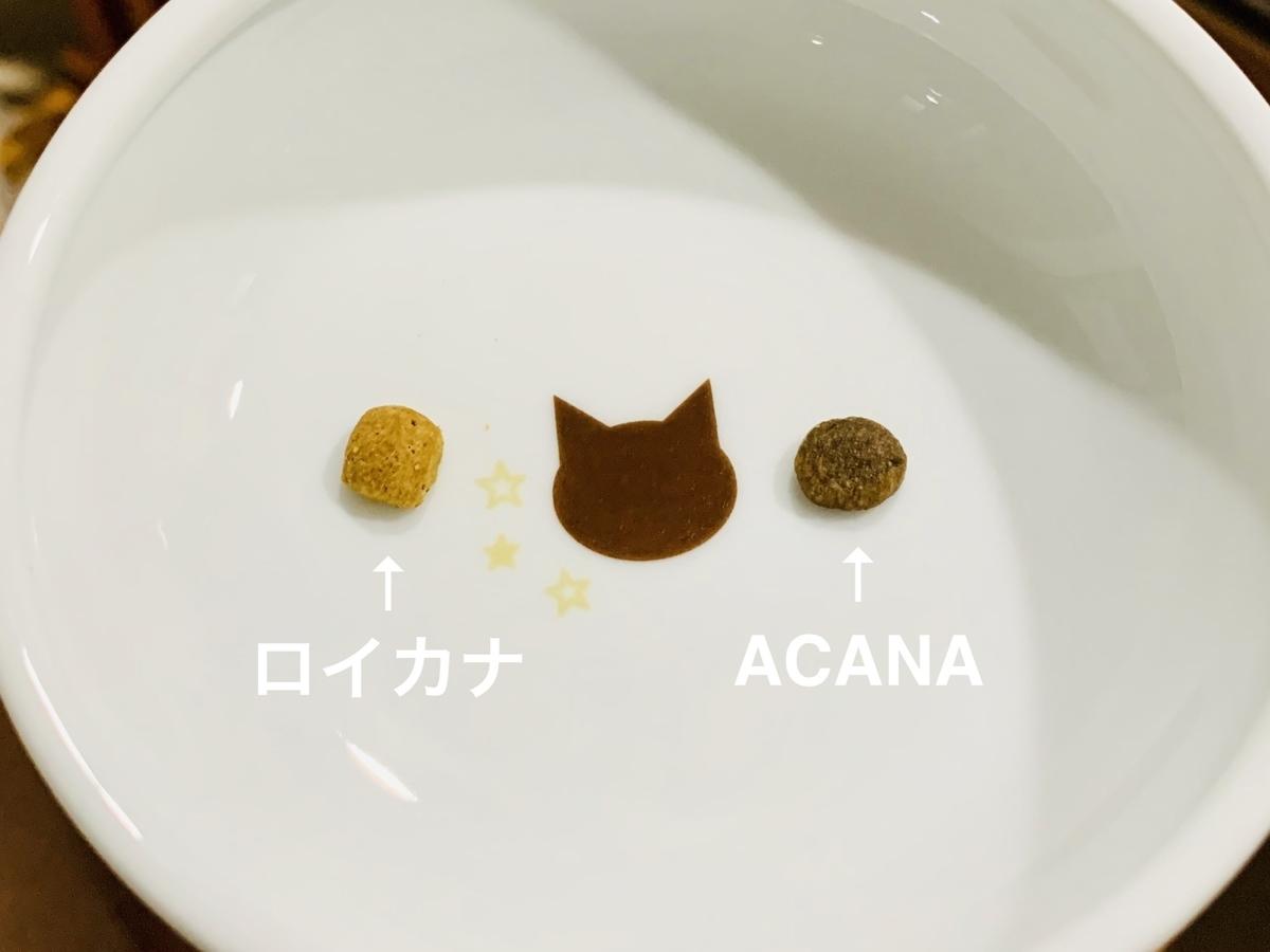 ロイカナとACANAのカリカリ比較