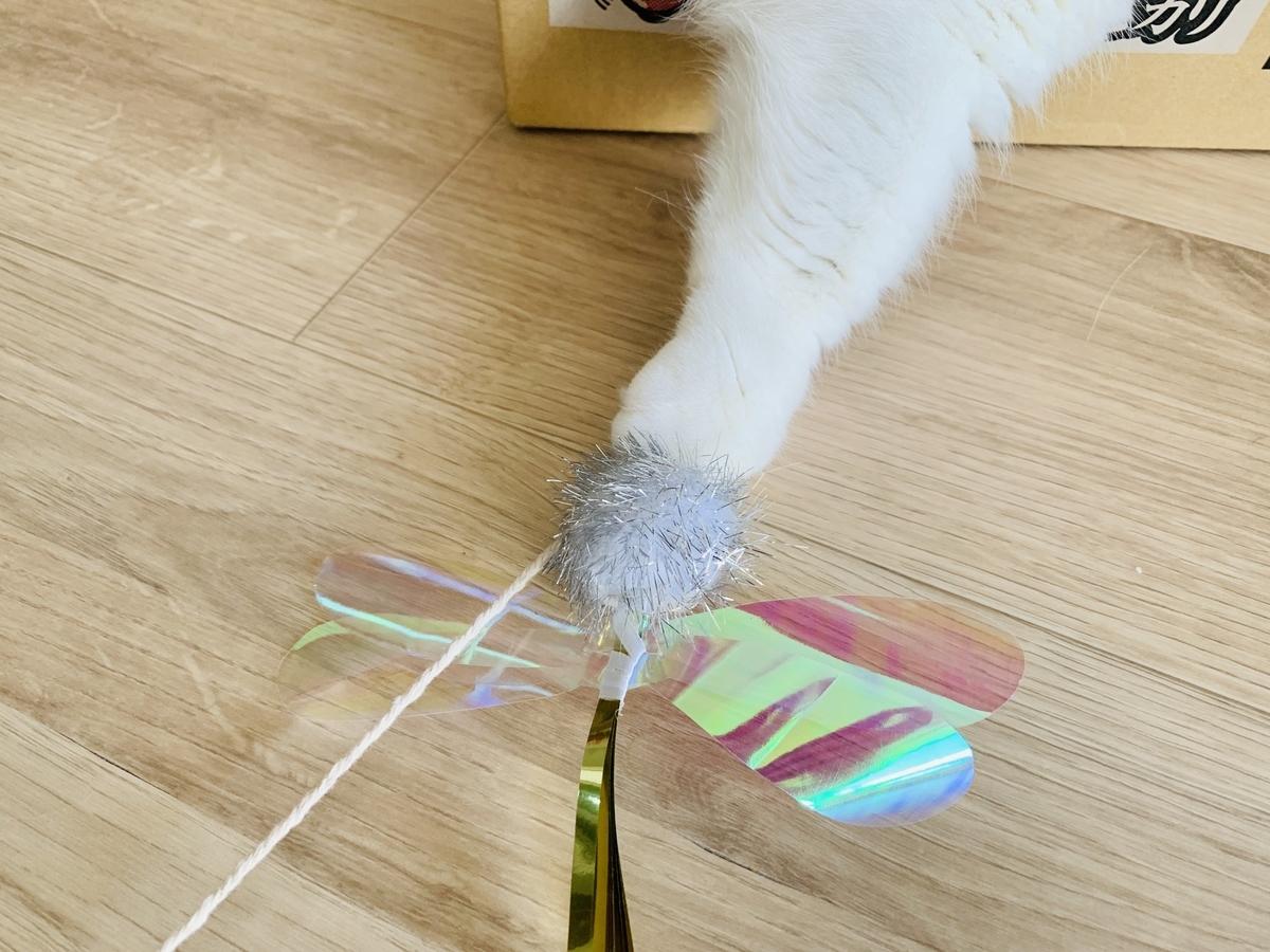 おもちゃの虫を捕まえるるるちゃん1
