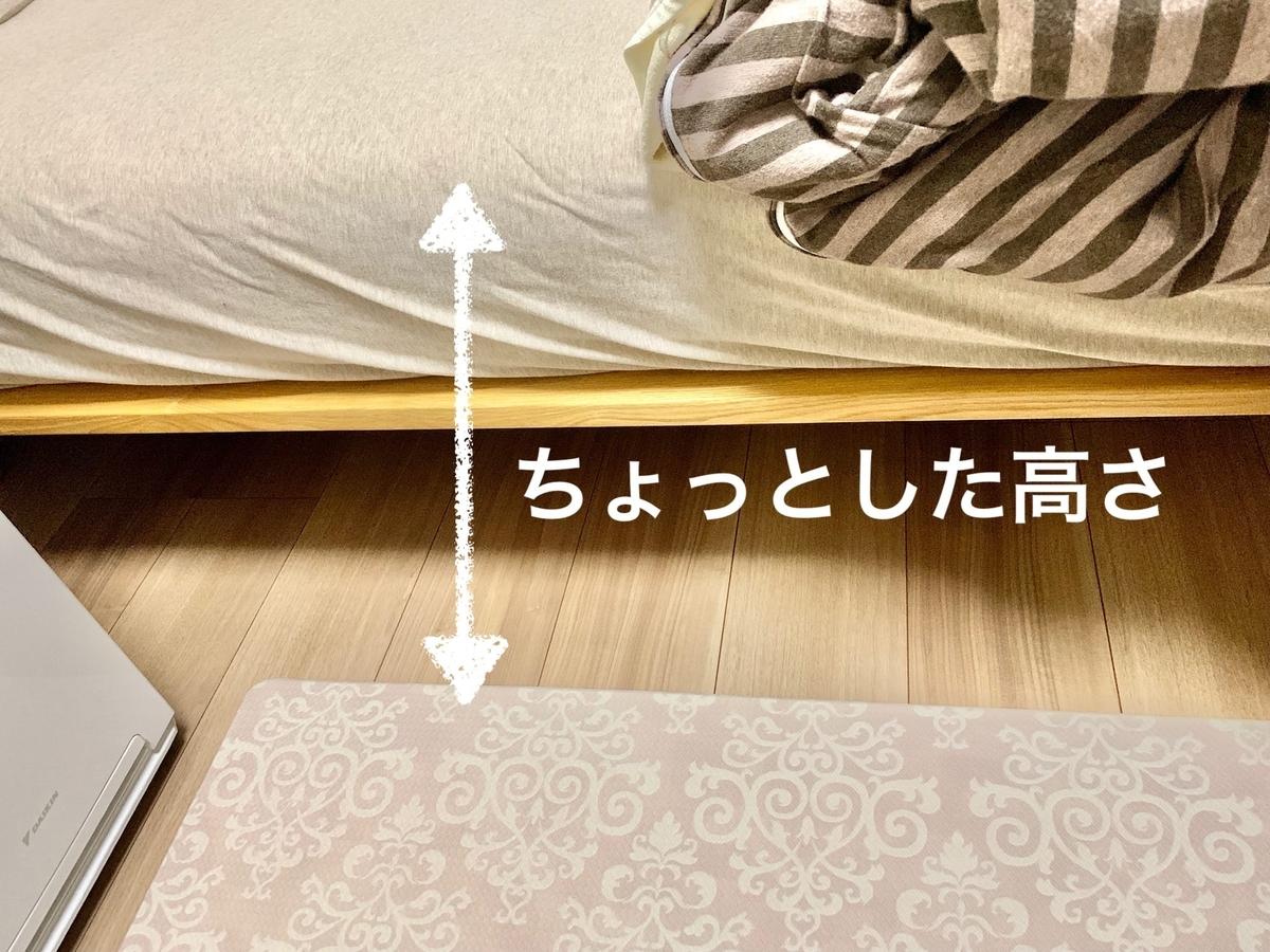 ベッドとベッドの間に敷いたマット2