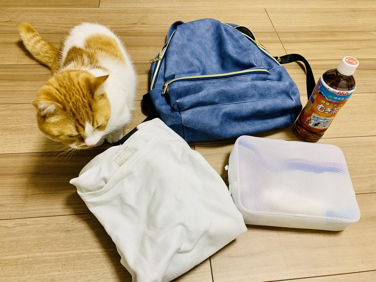 ボランティアにいくときの荷物