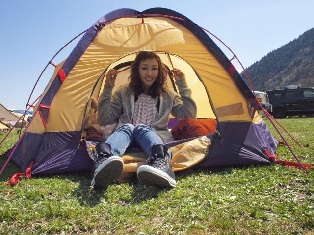 ソロ登山でテント生活