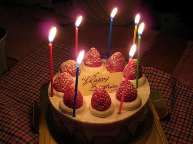 バースデーケーキ、Happy Brirthday