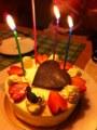 リエ、バースデーケーキ