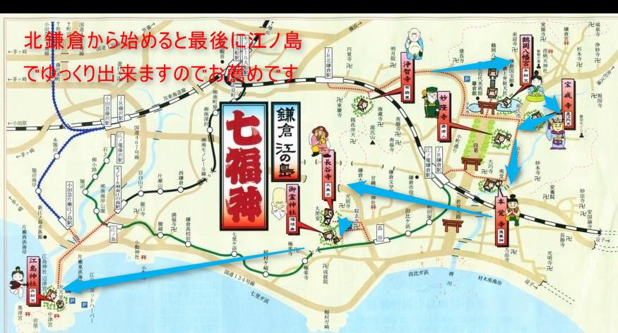 鎌倉 七福神 地図