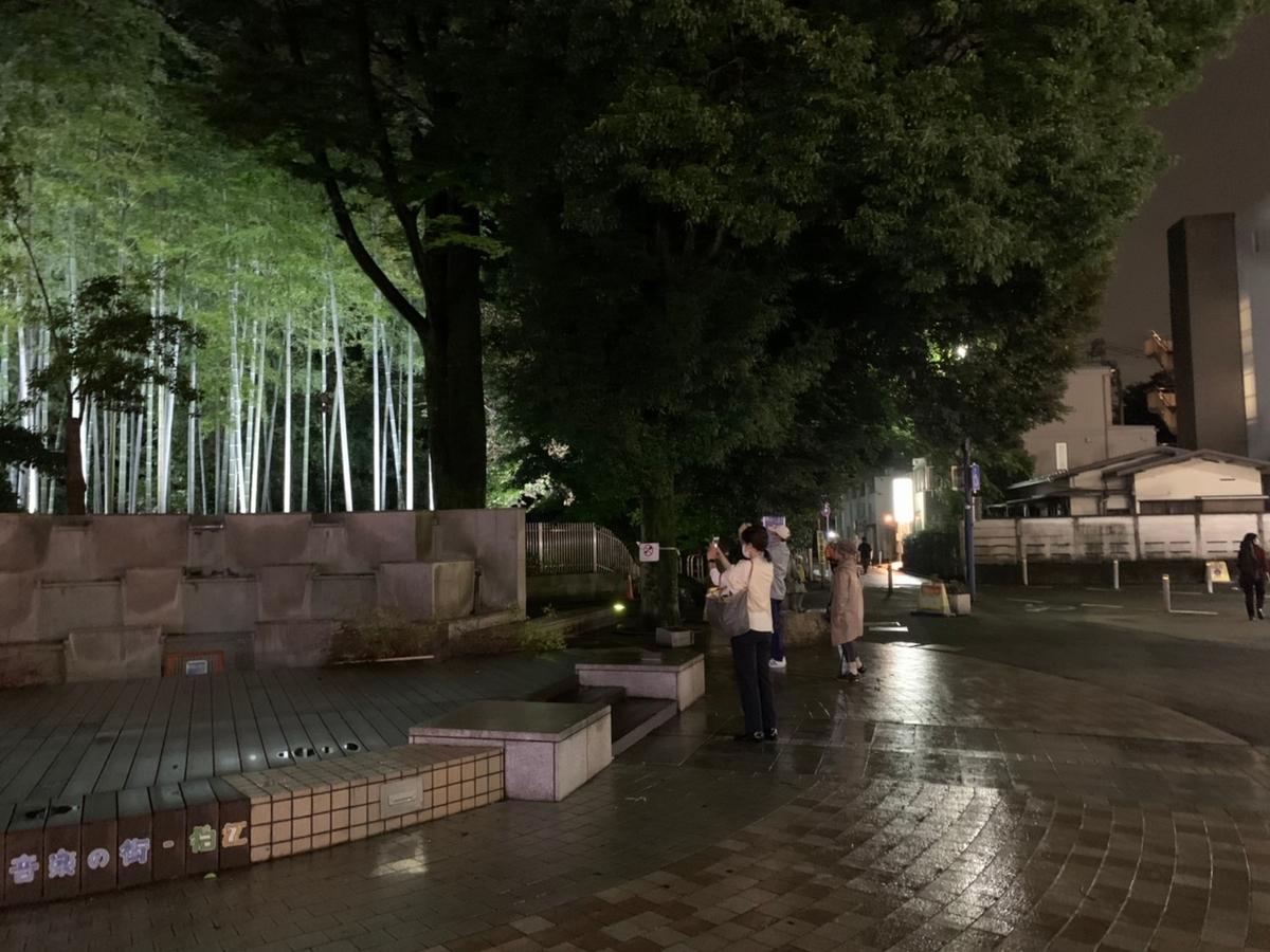 狛江駅北口竹林のライトアップ