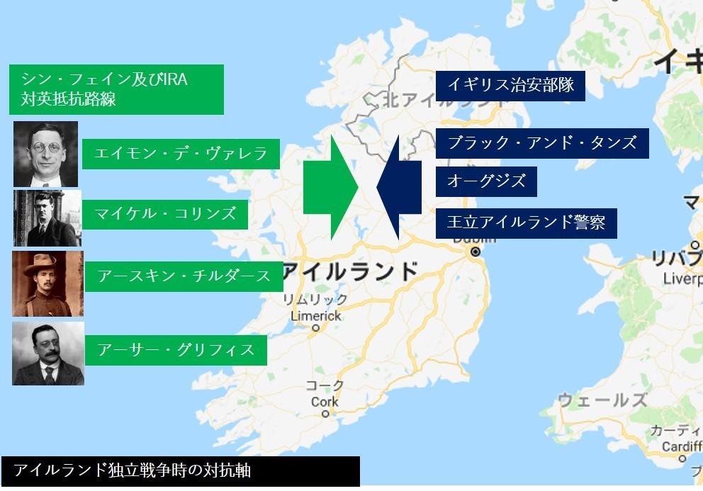 アイルランド独立闘争 - 南北分...