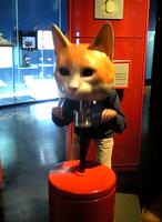 「猫の視野」体験中@茨城県自然博物館