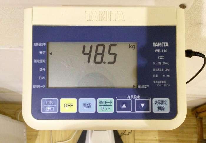食費を切り詰めた結果、体重48キロに