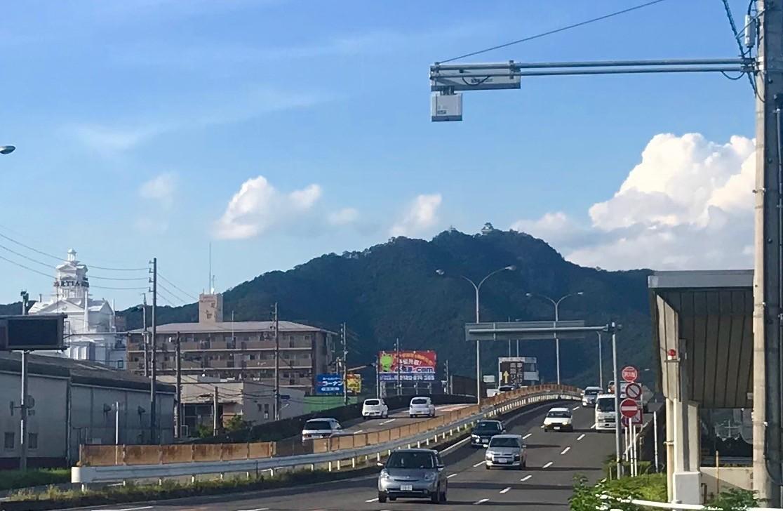 国道156号線から見る金華山