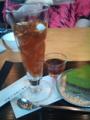 ほうじ茶ゼリーと抹茶チーズケーキ