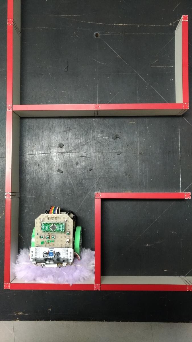 埃取り器付ステッパマウスをスタート地点に置き