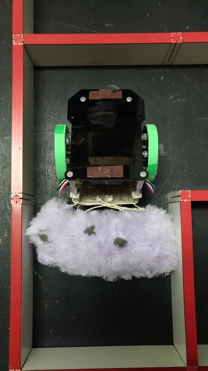 掃除後埃取り器付ステッパマウス裏面