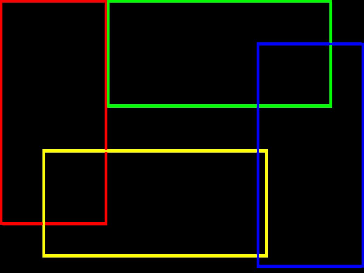 図4 横置き2枚、縦置き2枚
