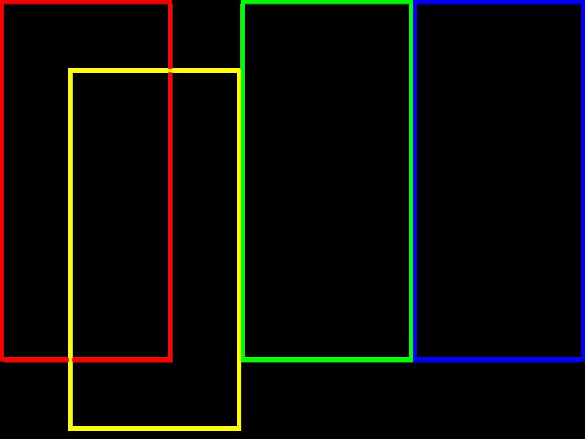 図6 縦置き4枚