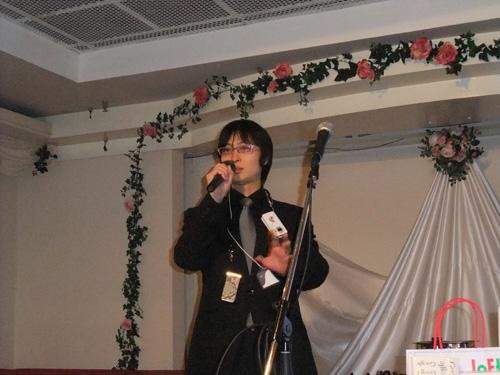 開会の挨拶は我らがスーパーグラフィックスの鈴木さん