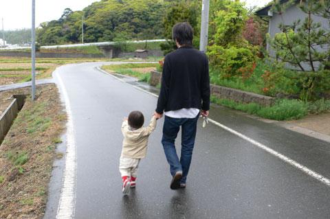 雨のお散歩