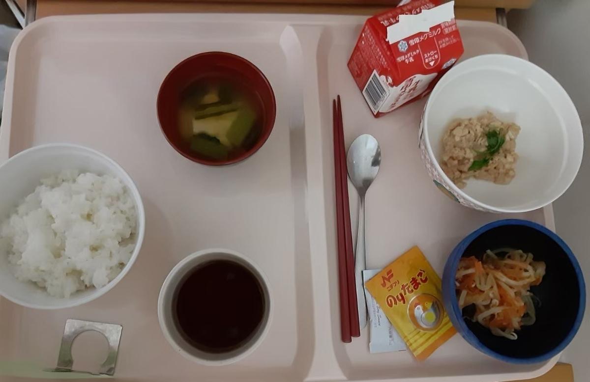 産後4日目の朝食、ヘルシーな和食でした