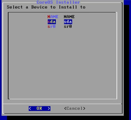 インストール先デバイスの指定