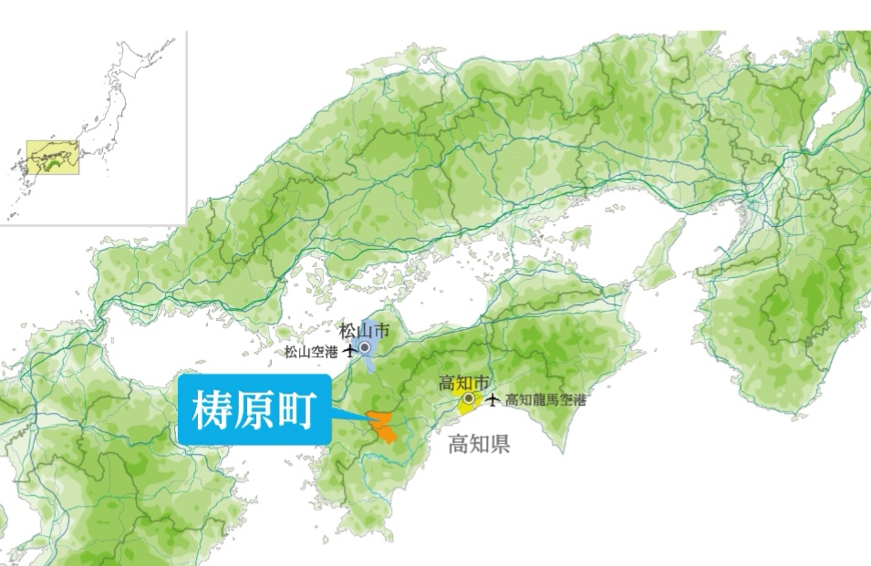 梼原町の地図