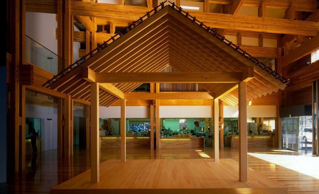 梼原町総合庁舎の茶堂