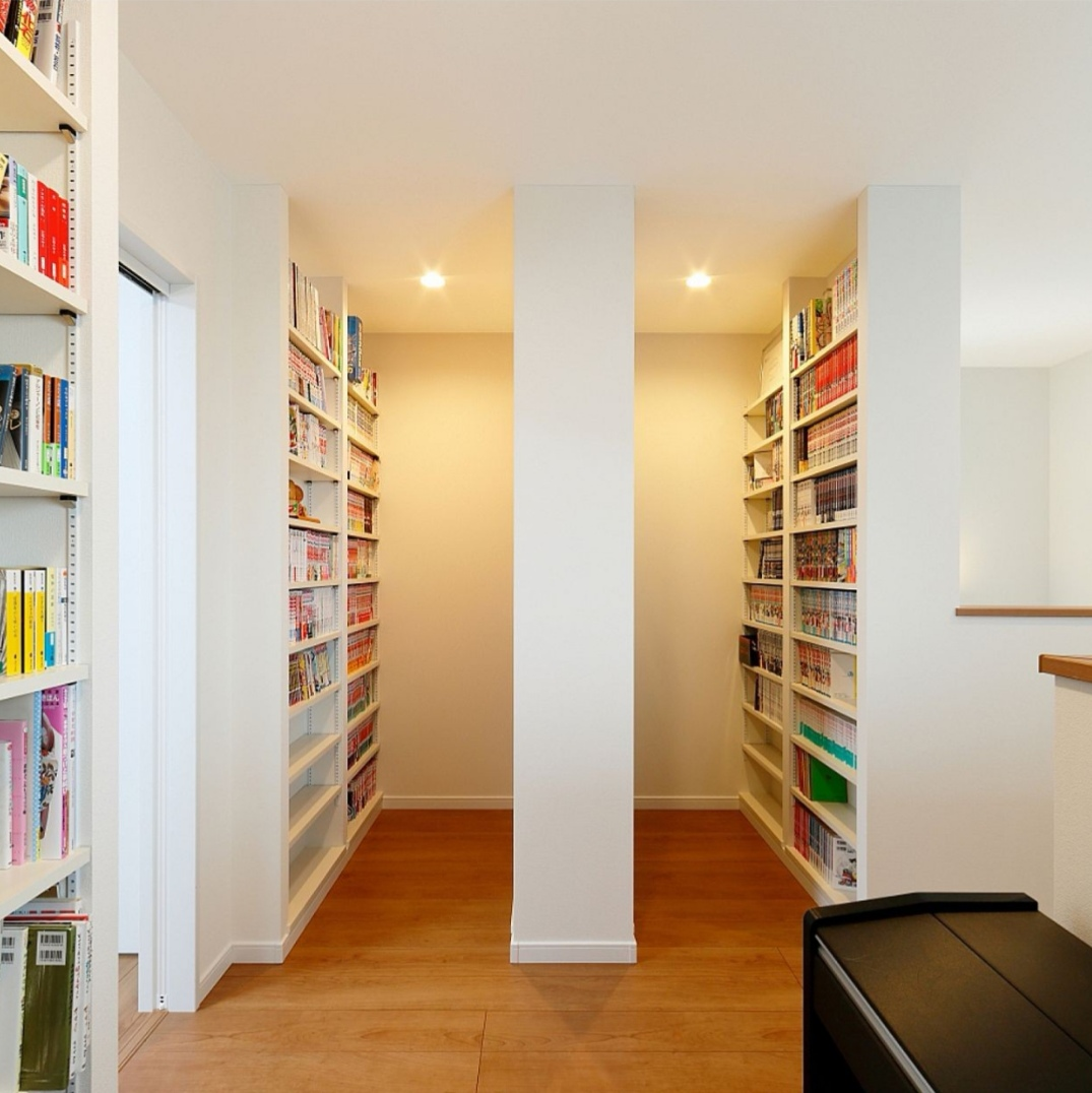家族で本を共有できる本棚