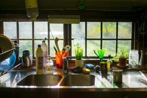 生活感のあるキッチン
