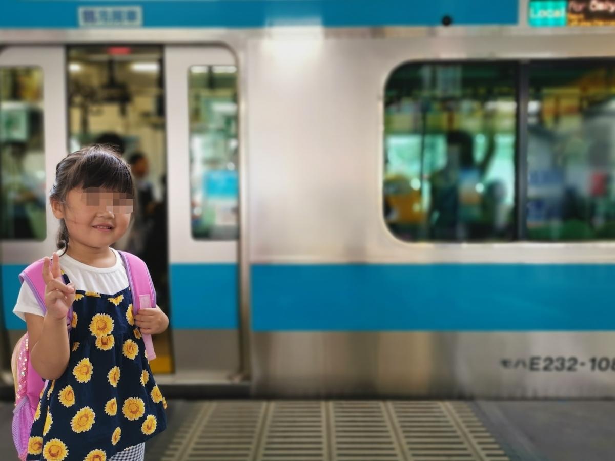 京浜東北線と子供