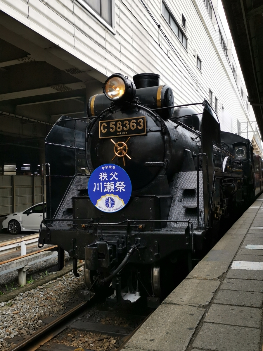 秩父鉄道熊谷駅のSL