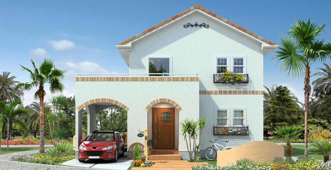 可愛い南欧風の家