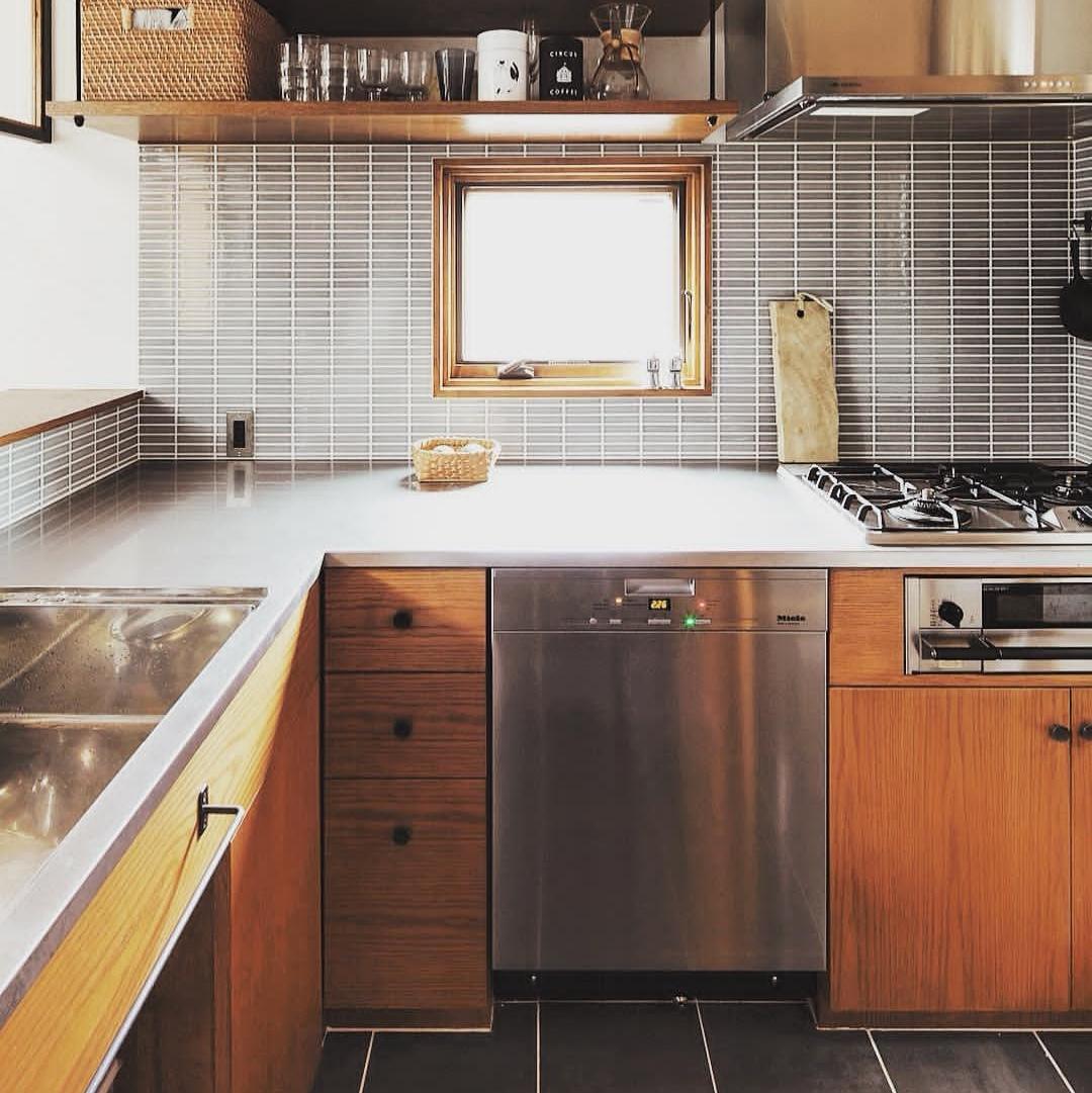 ミーレ食洗機の付いたキッチン