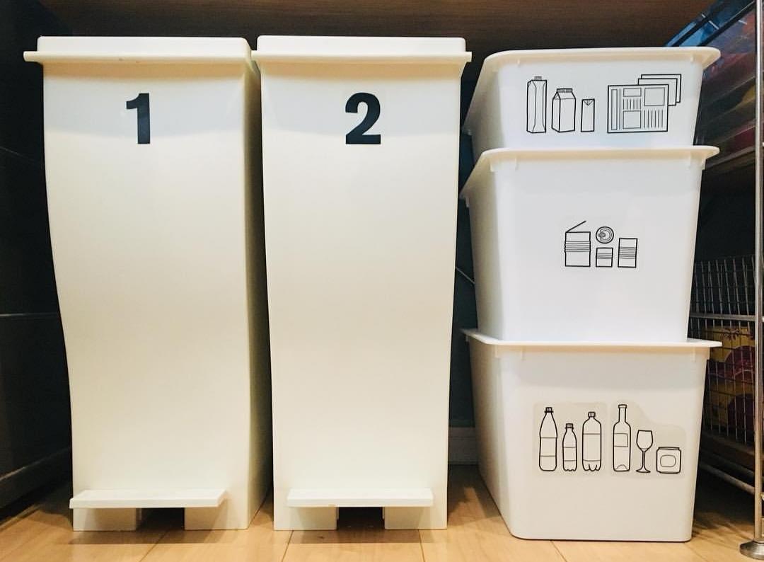 ゴミ分別したゴミ箱