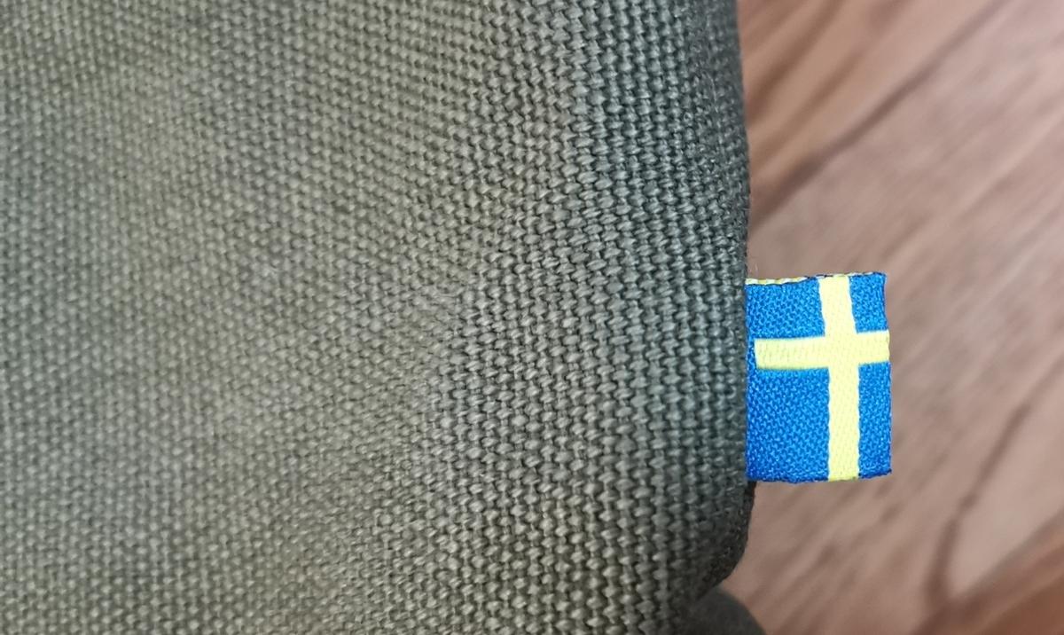 スウェーデンロゴの入ったリュック