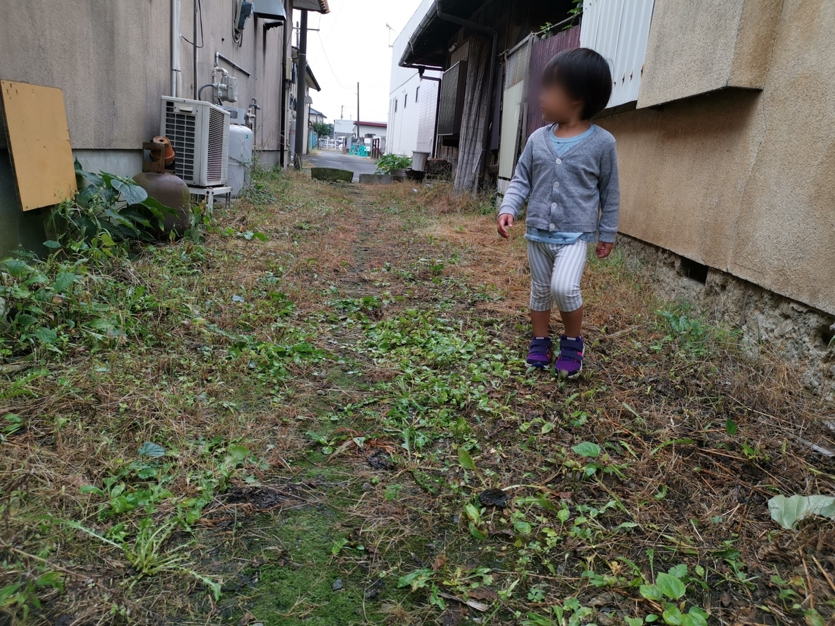 裏路地を歩く子供