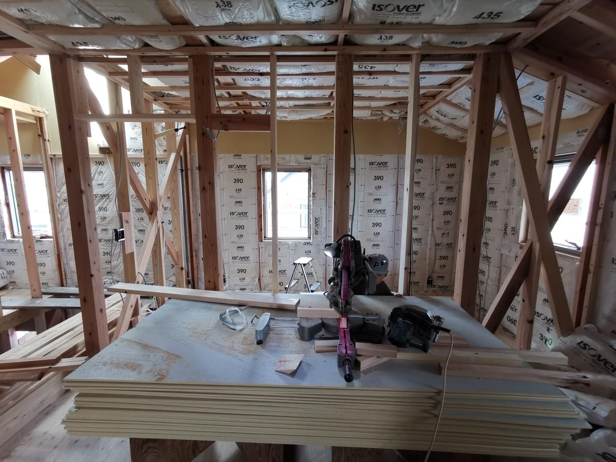 天井が張られる前の子供部屋