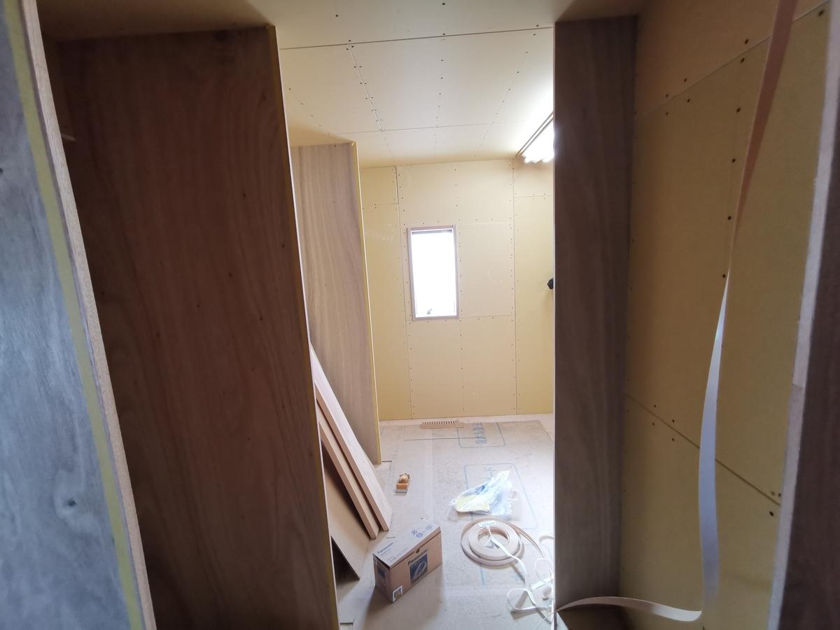 キッチン工事の内部