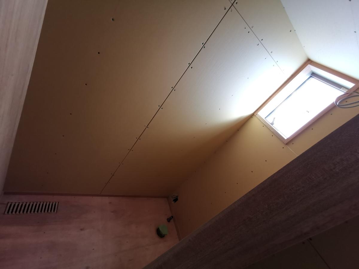 施工中のトイレ