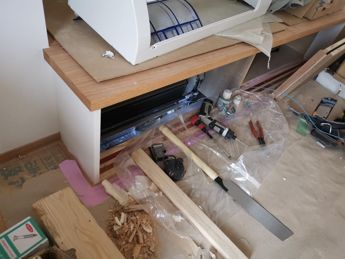 床下エアコン施工