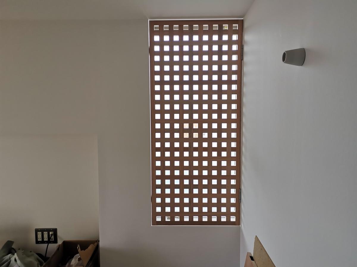 建具屋による造作格子窓