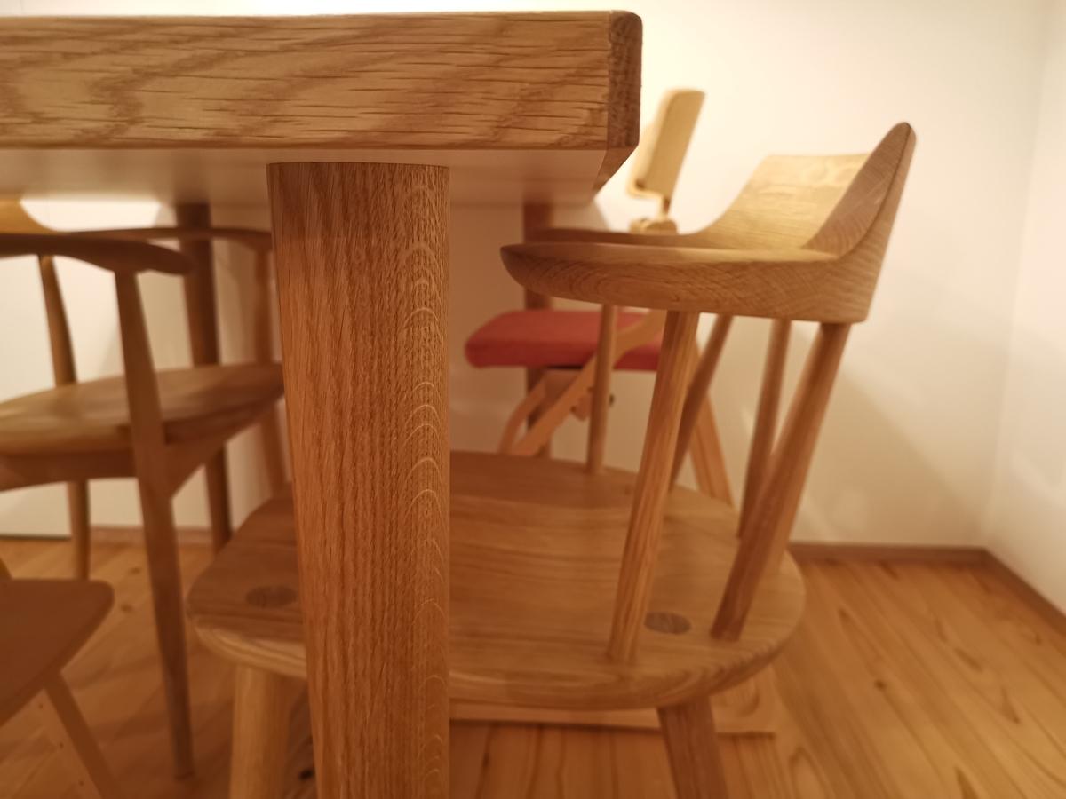 ダイニングテーブルの脚(虎斑)
