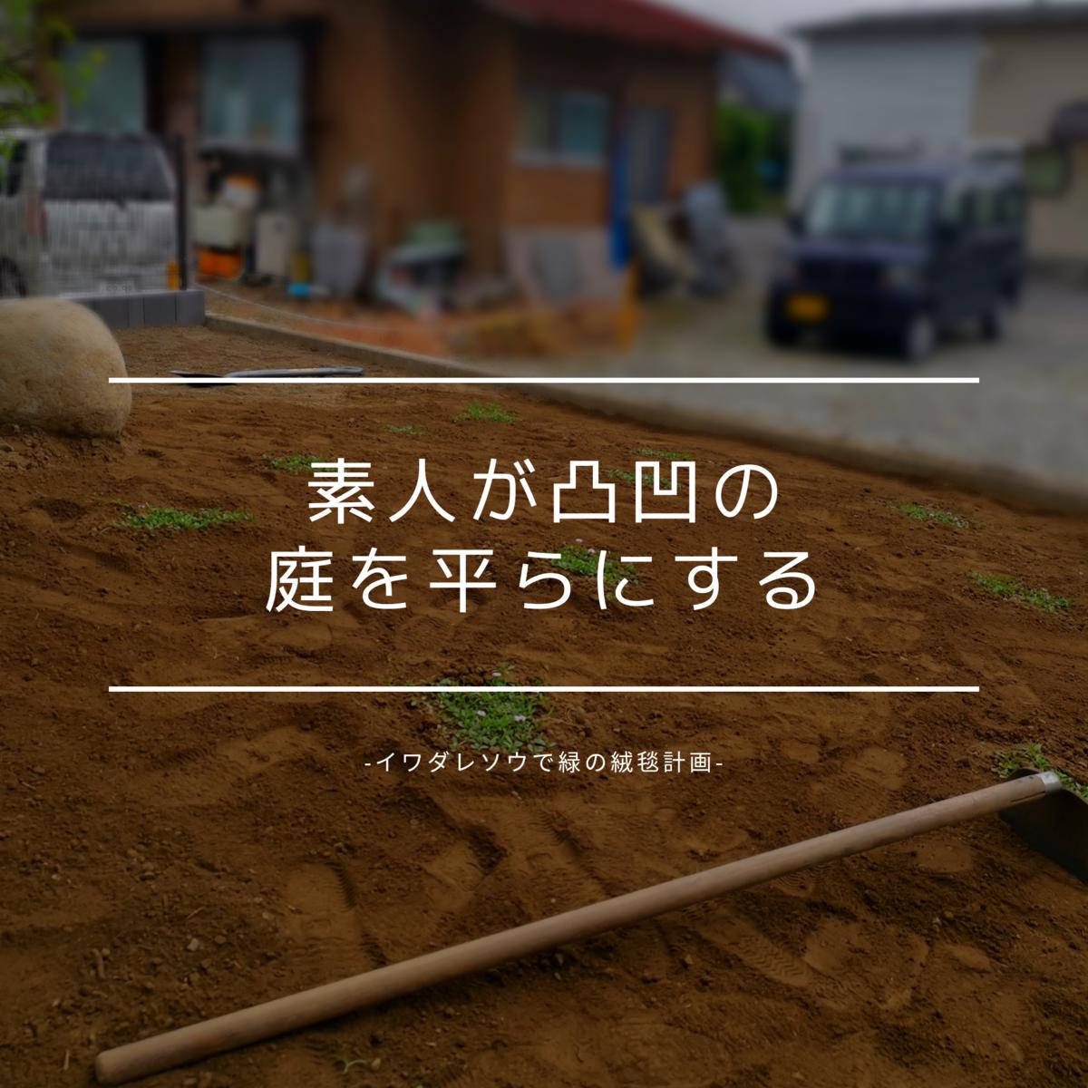 素人が凸凹の庭を平らにする-イワダレソウで緑の絨毯計画-