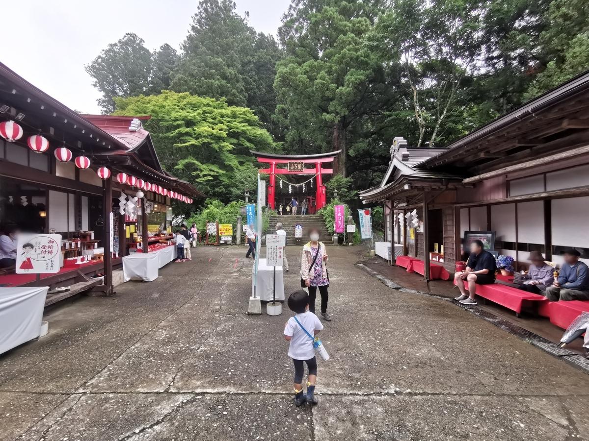 鷲子山上神社 参道の様子