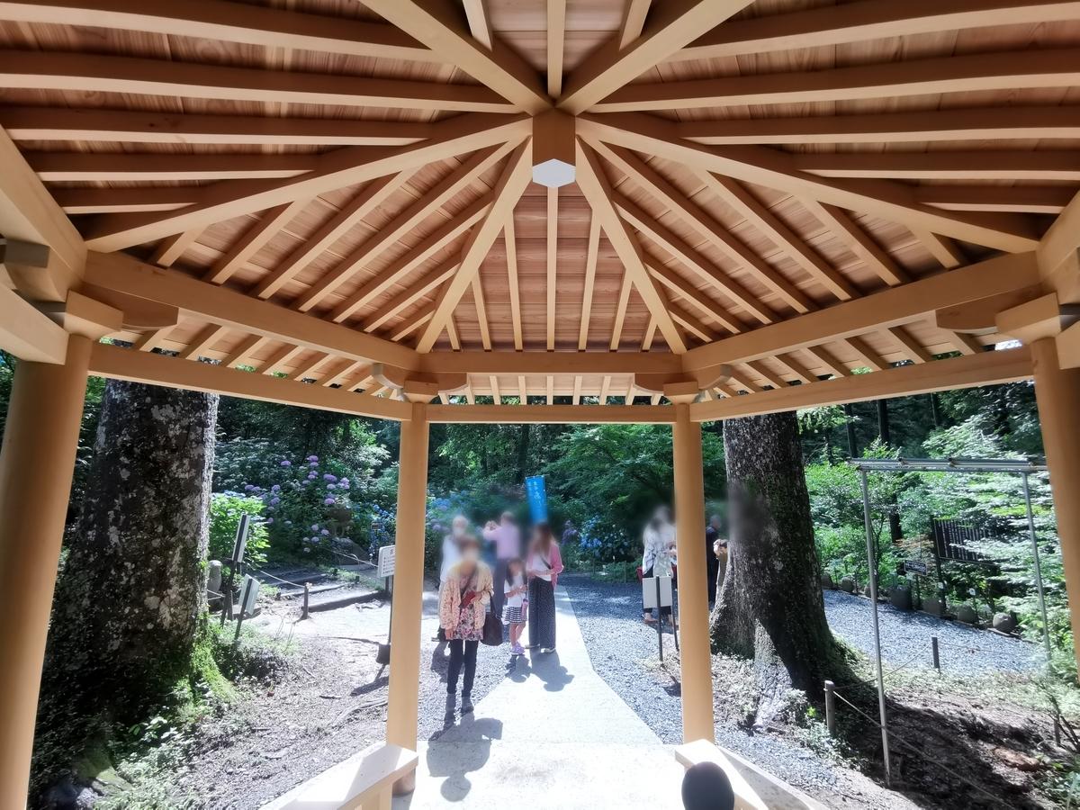 合掌造りの休憩所 フクロウ神社
