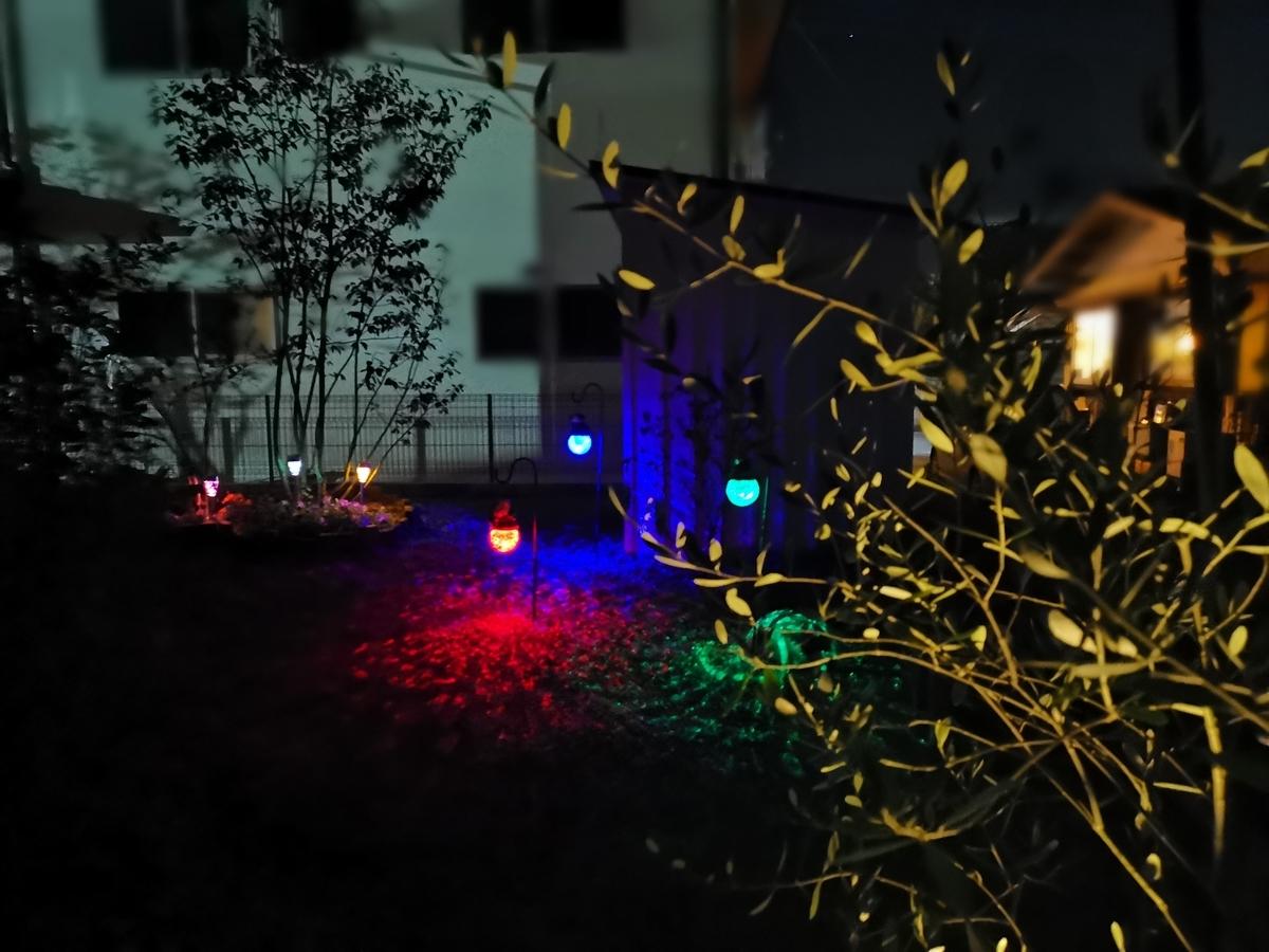 コストコ・ダイソーのお庭用ライトアップ照明